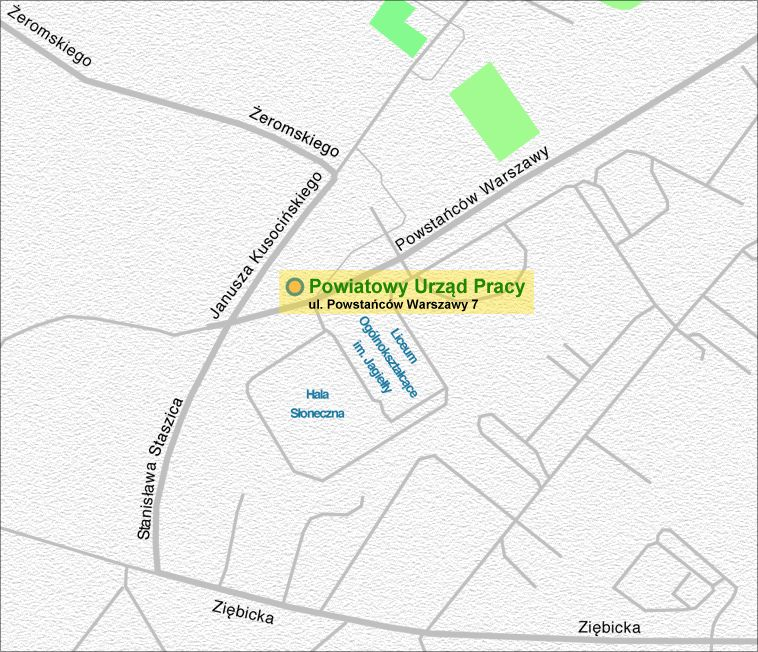 Mapa lokalizacji PUP Ząbkowice Śląskie